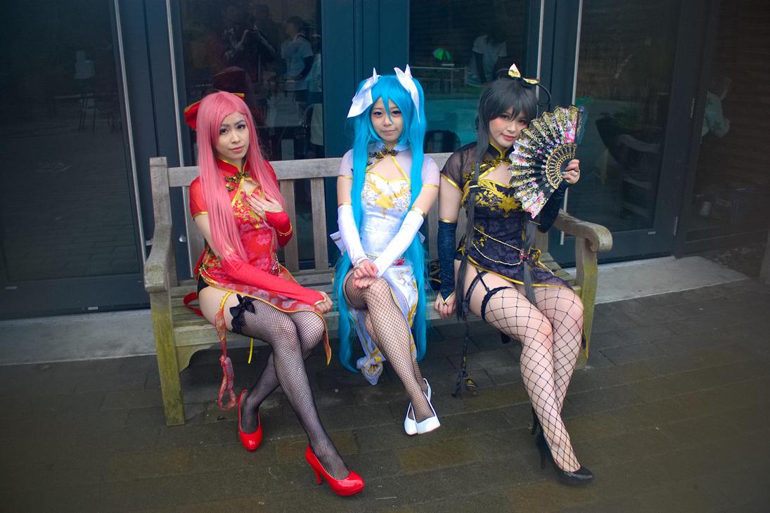 Cosplay shot - Vocaloid in Cheongsam Dresses by tetsuogz