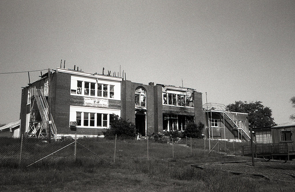 Colonial Beach High School - Argus C3 35mm lens by rdungan1918