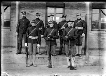 Marines in China 1895 - print from glass plate neg