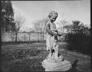 Garden Statue - Chatham manor - pinhole 8x10