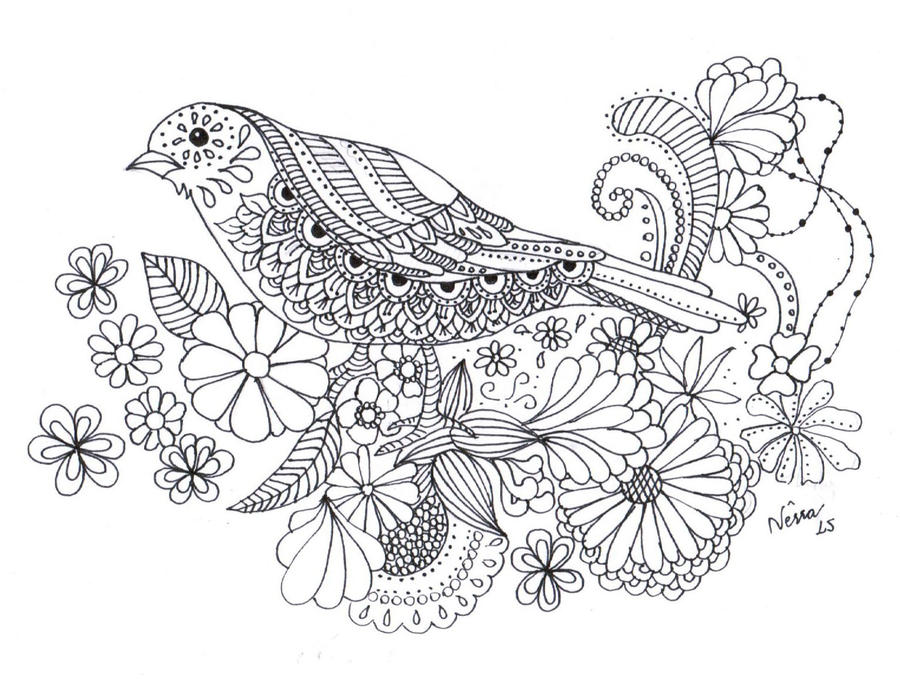The bird - my personal colouring book by Wilwarinn on DeviantArt