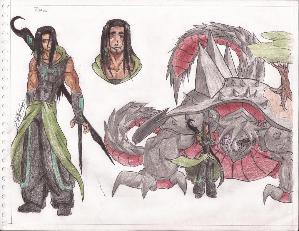 isobu and his monster form by eros07 on DeviantArt