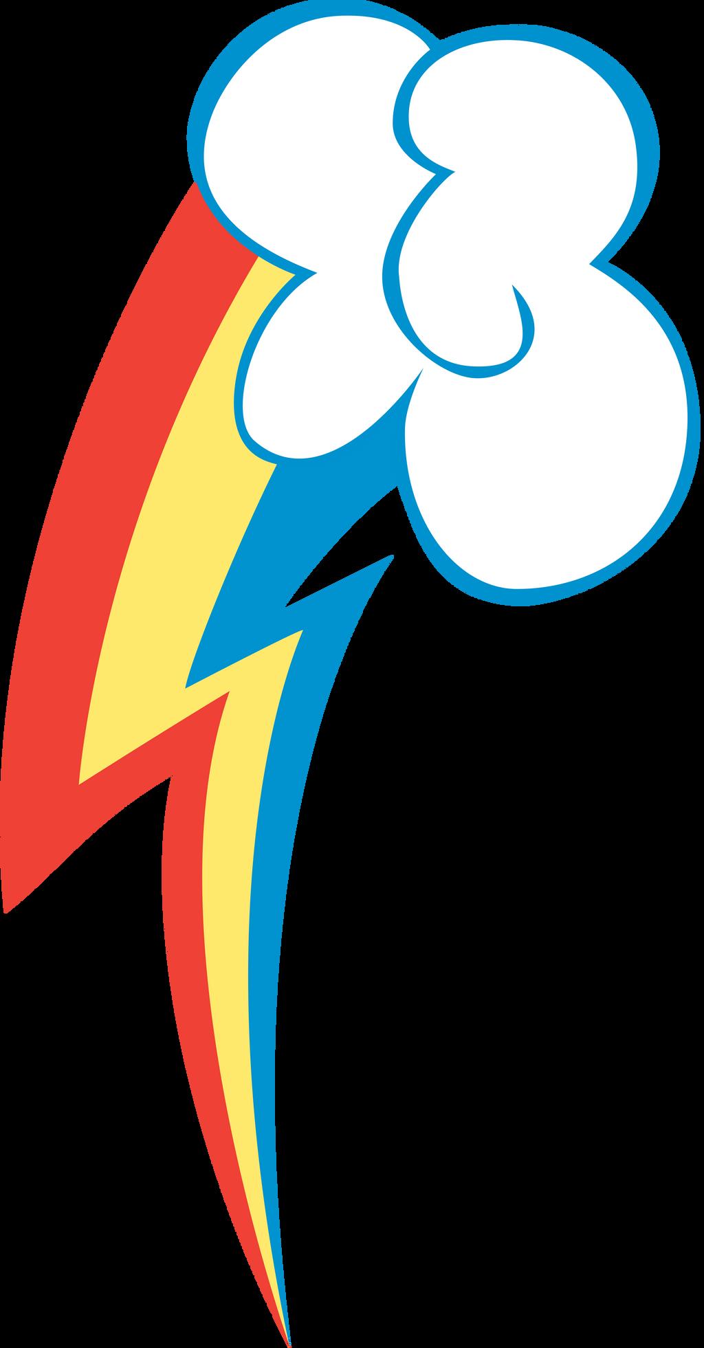 Rainbow Dash Cutie Mark Vector
