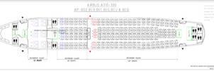 Airbus A310-300R seatmap