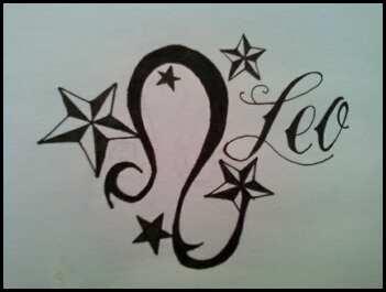 Leo Signs Tattoo Designs
