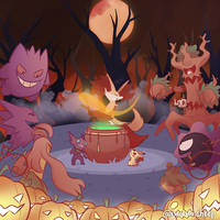 Happy Pokemon Halloween ! by themomosheep