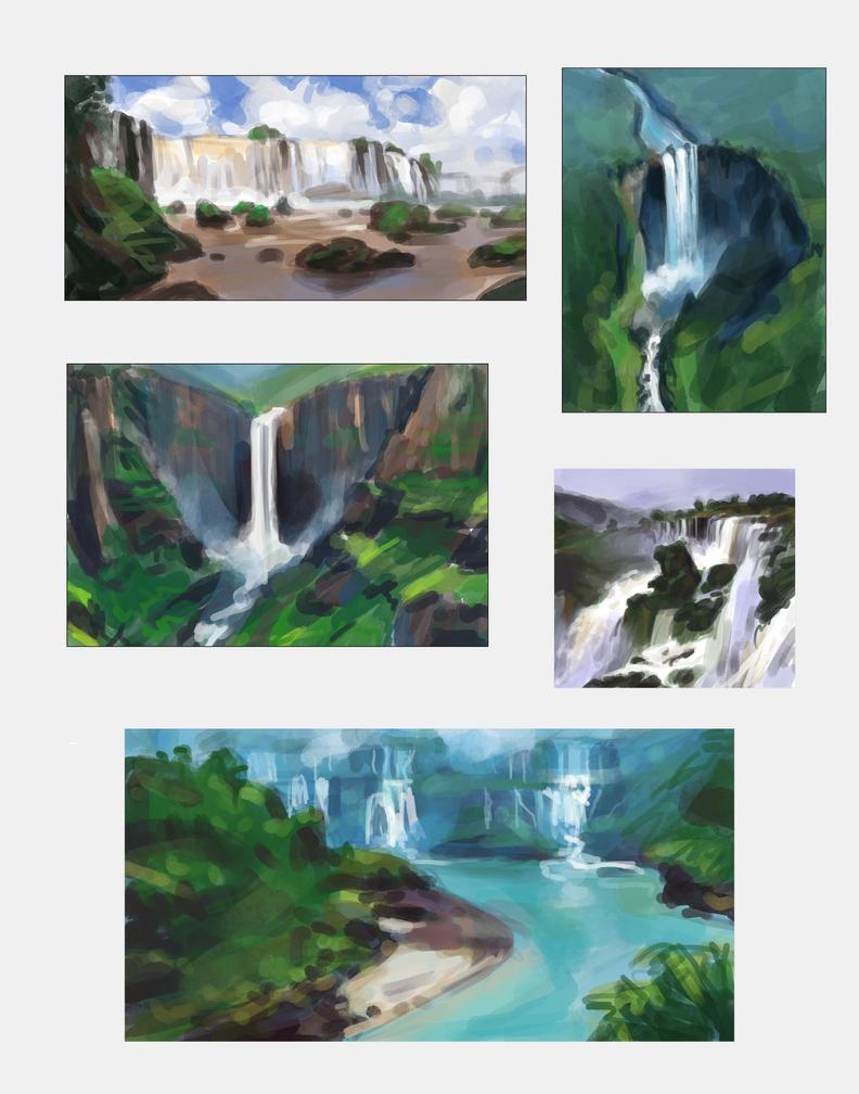 Waterfall Studies by taralynna