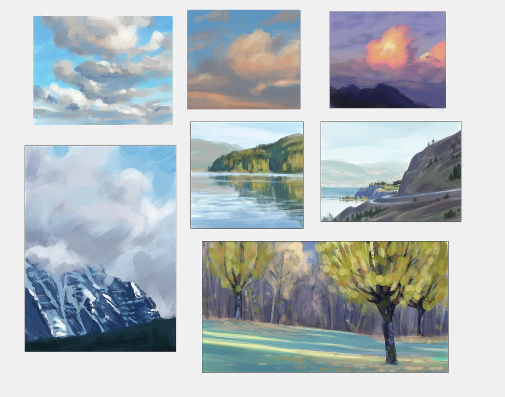 Landscape and cloud studies by taralynna
