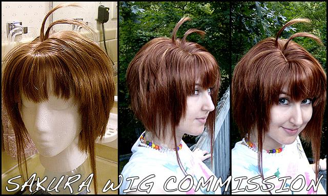Wig Commission: Sakura. by cupcake-rufflebutt