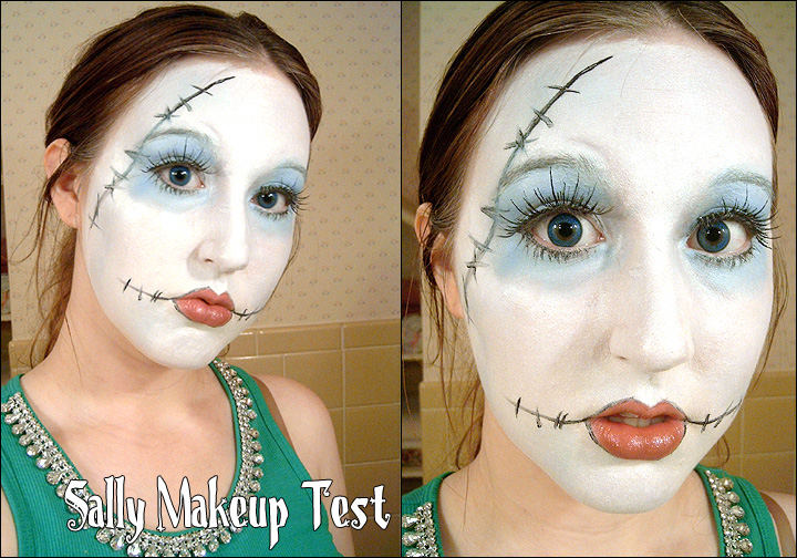 Makeup Test: Sally. by cupcake-rufflebutt