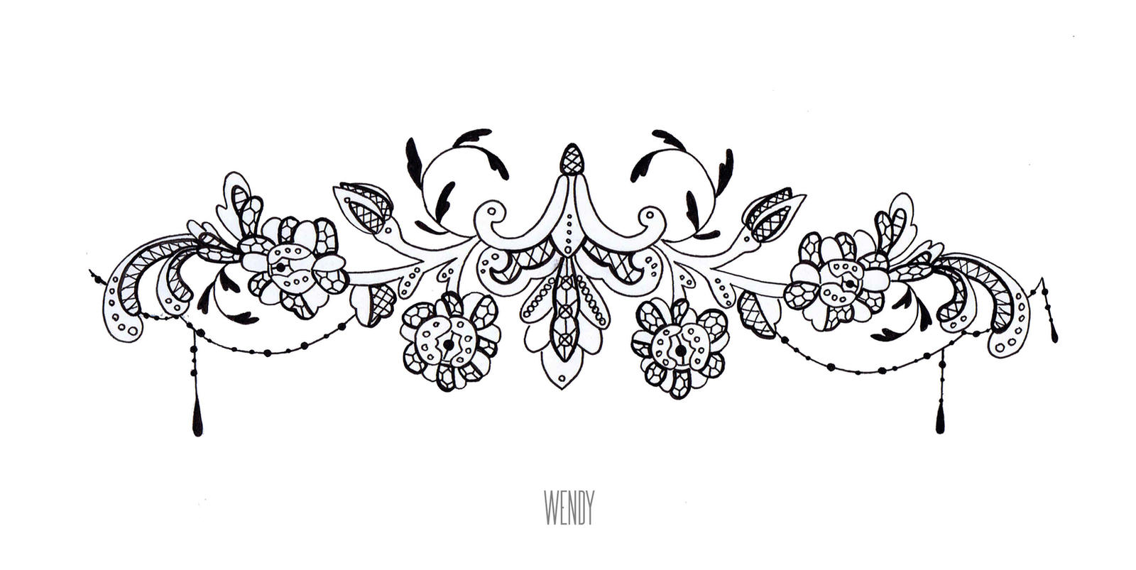 Tattoo Dentelle By Imaginr Wyden On Deviantart