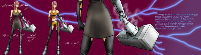 Lightning banner design Forger of Fate