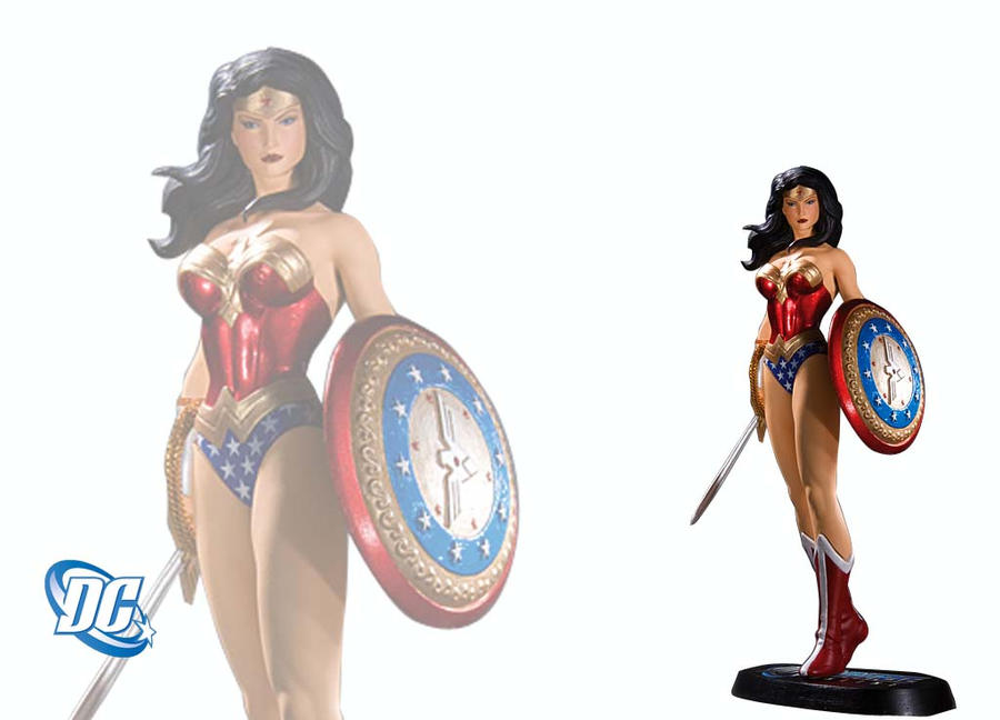 Wonder Woman statue by teamblazeman