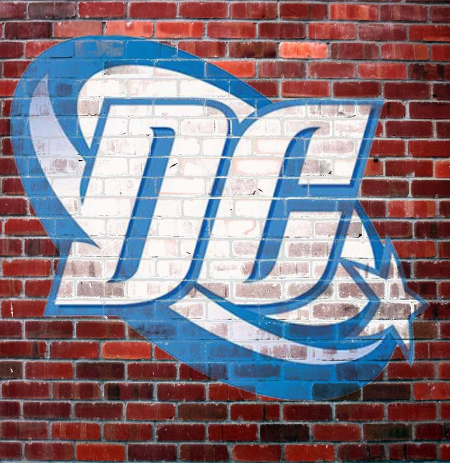 DC logo graffiti by teamblazeman