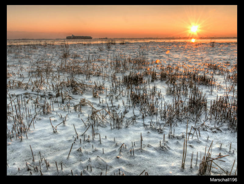 Sunset on the Elbe by marschall196
