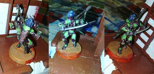 Ninja con arco tactico