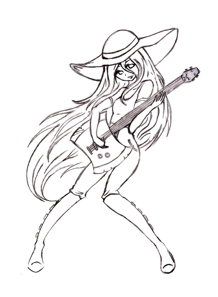 Marceline the vampire queen by polynesiangirl on deviantart for Marceline coloring pages