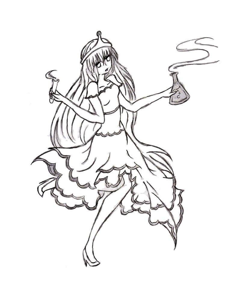 Lumpy space princess coloring pages - Princess Bubblegum Coloring Pages