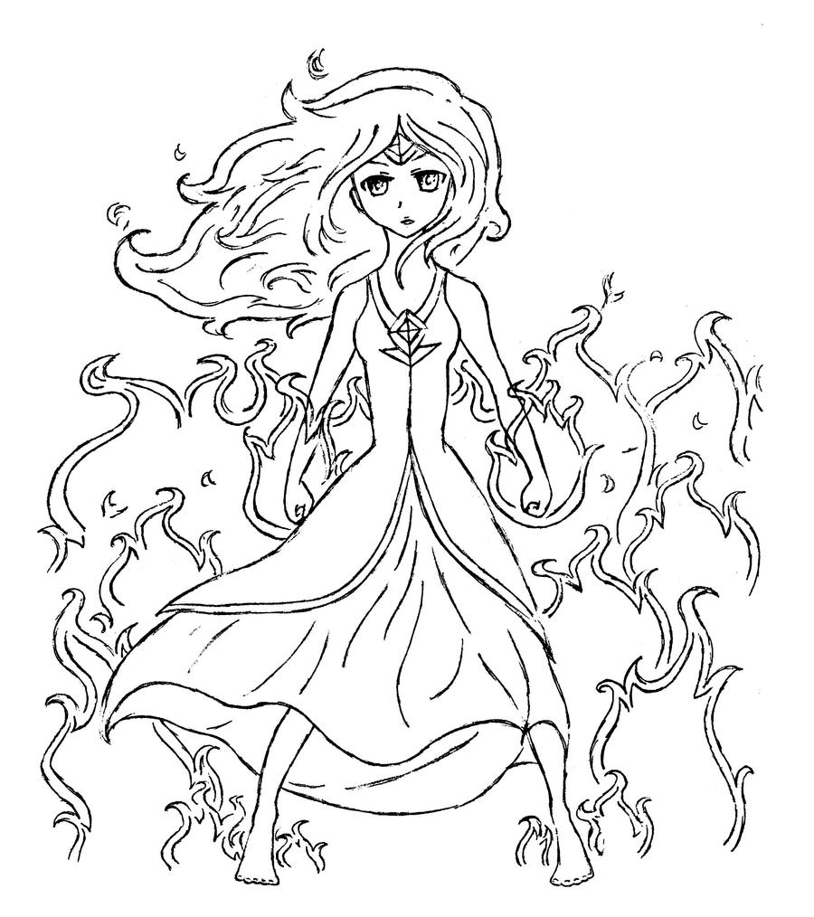 flame princess coloring pages anime - photo#7