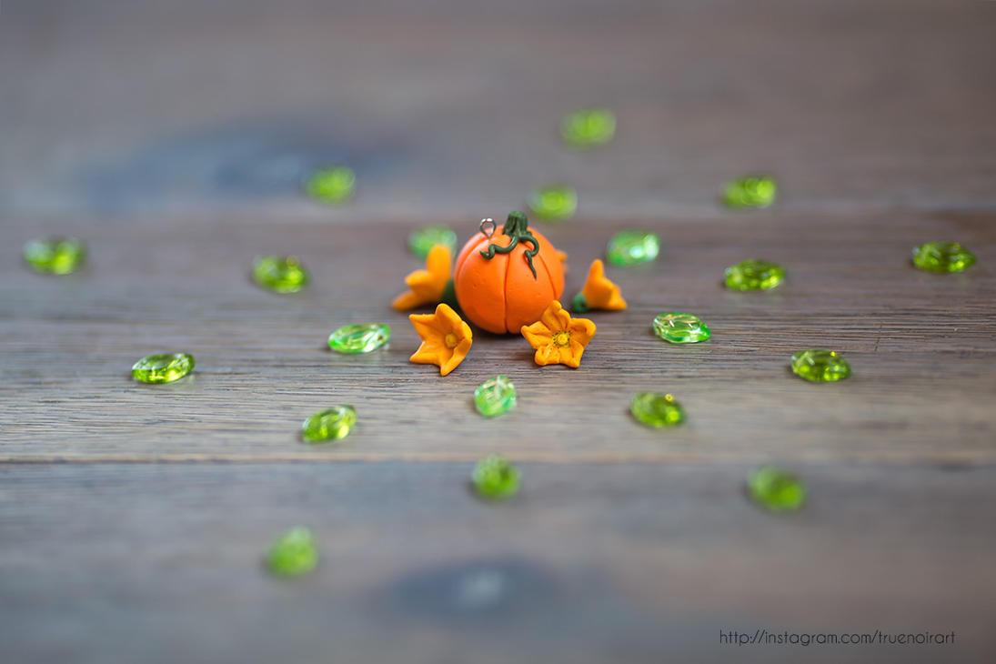 Pumpkin Autumn. Polymer clay figurine. by NoirArt