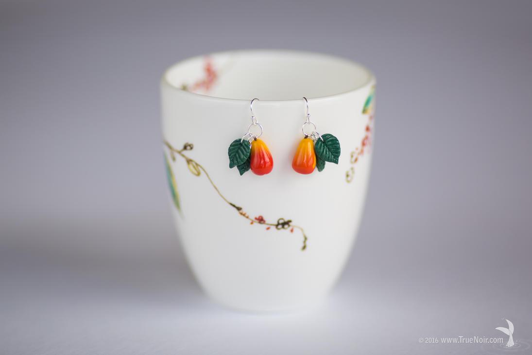 Bountiful Harvest, polymer clay earrings by NoirArt