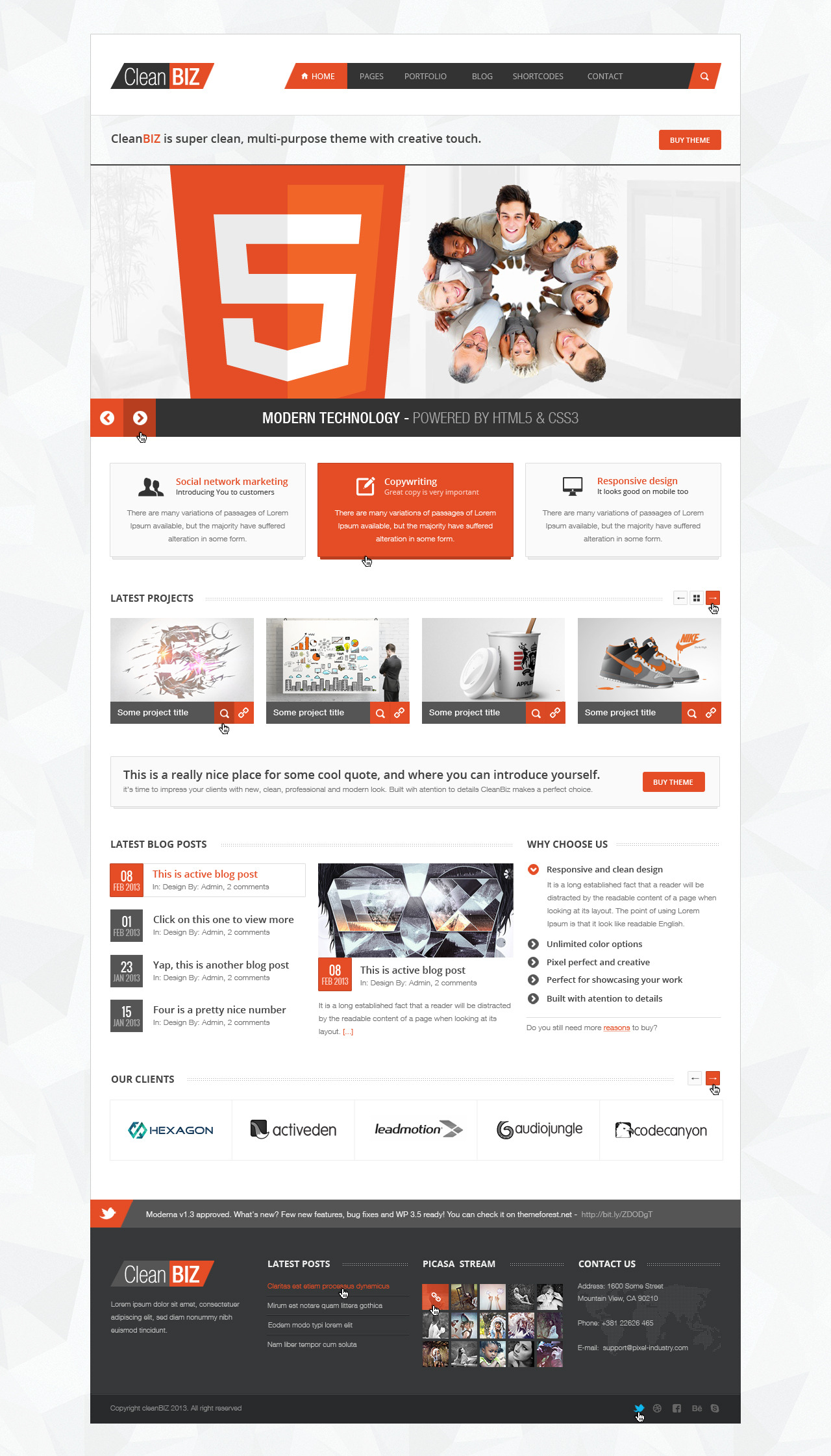 CleanBIZ Creative Multipurpose Theme by pixel-industry