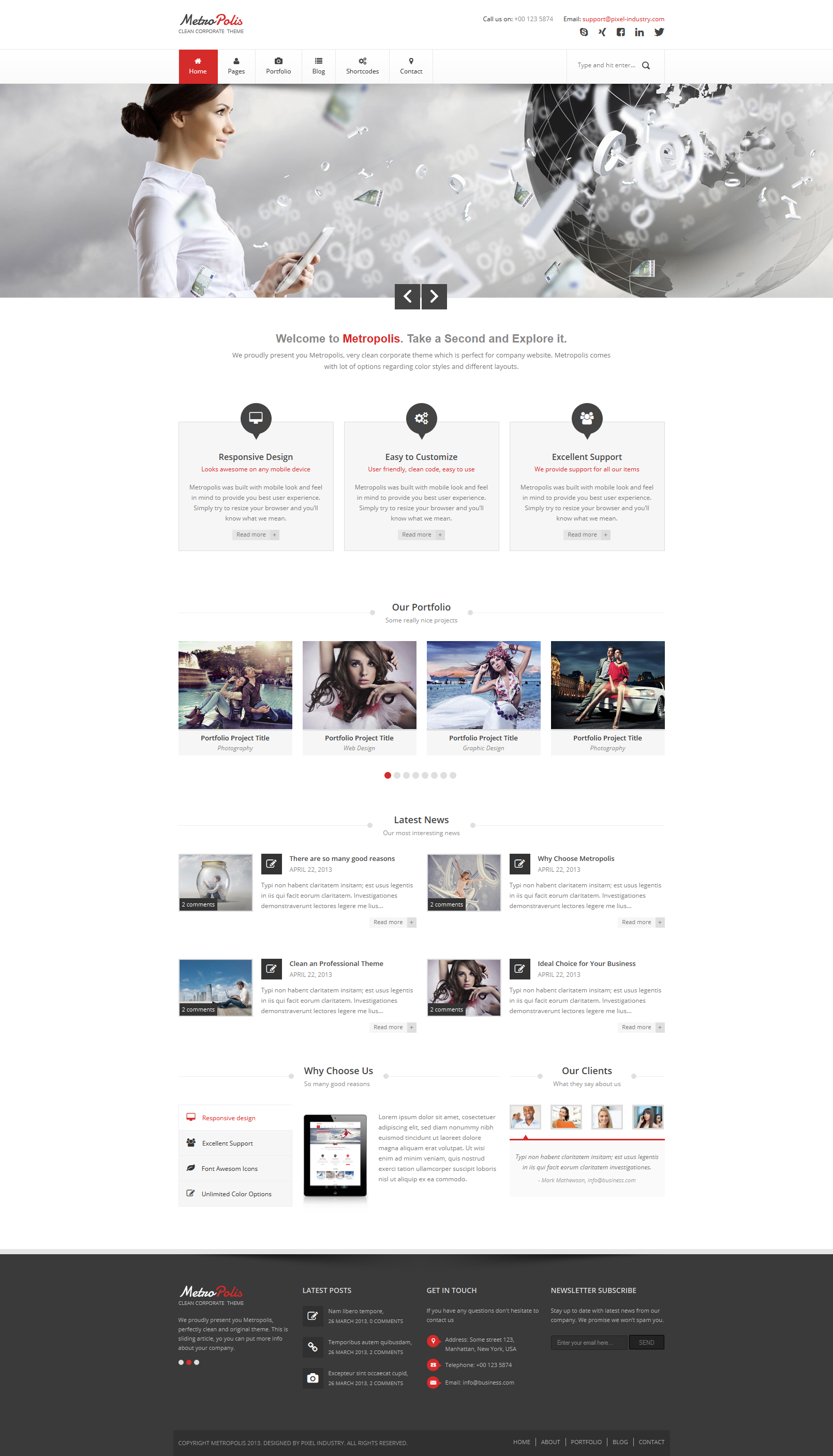 Metropolis - Clean Multipurpose Theme HTML Version by pixel-industry