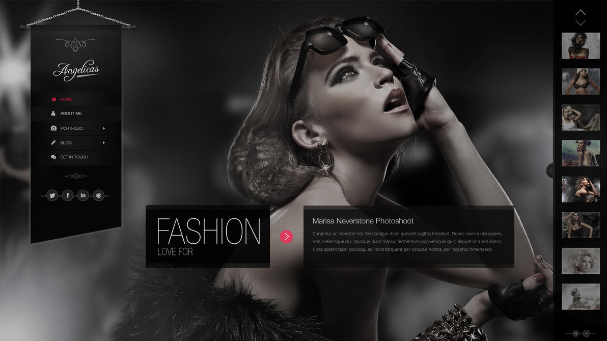 Angelicas Psd Photography Template By Pixel Industry On