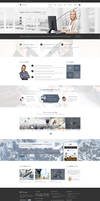Elvyre Professional Corporate PSD Template by pixel-industry