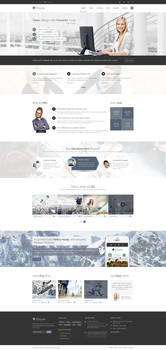 Elvyre Professional Corporate PSD Template