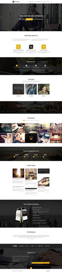 Arthenon - Creative One Page Portfolio