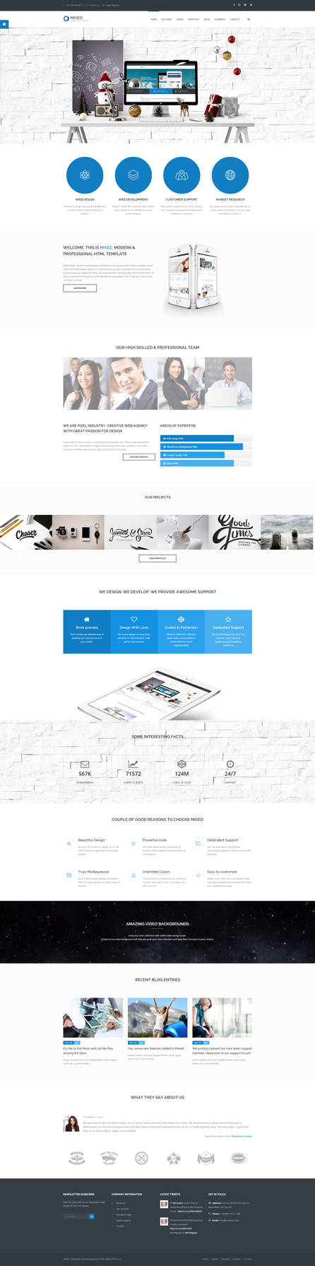 Mixed - Modern and Professional HTML Template