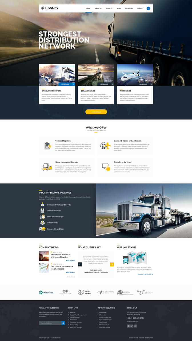 01 HomeTrucking PSD Template for Logistics and Tra by pixel-industry