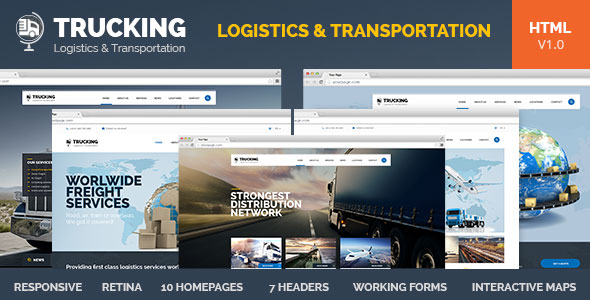 Trucking - Transportation and Logistics HTML by pixel-industry