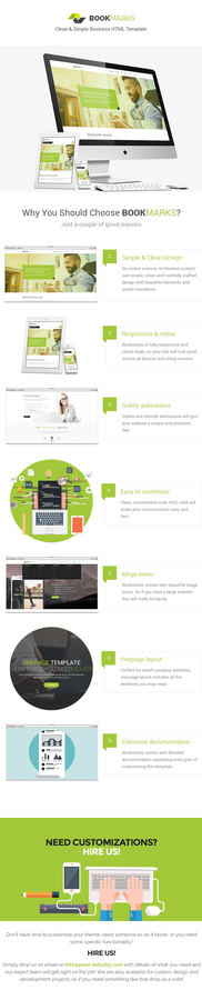 BookMarks - Clean and simple HTML Template