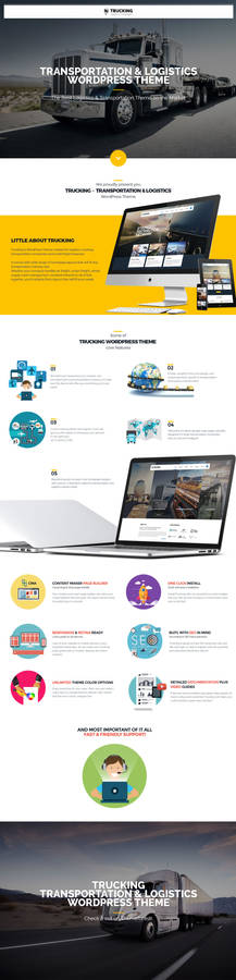 Trucking Transportation and Logistics WP Theme
