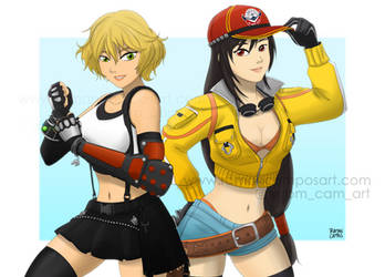 Cindy and Tifa