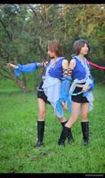 FFX-2 Lenne x Yuna  both cosplay by Loki