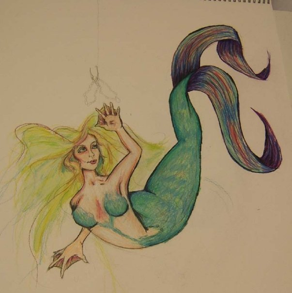 unfinished mermaid by Jenny42