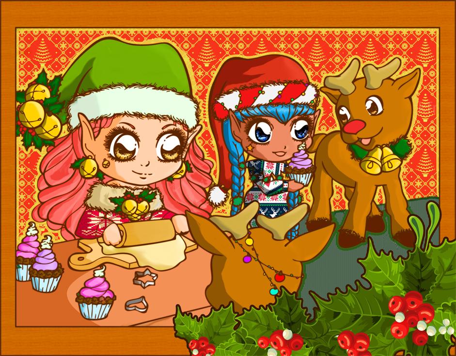 Christmas Bakery by Tillawel