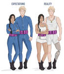 The 75th Hunger Games Outfits by littleredlynx