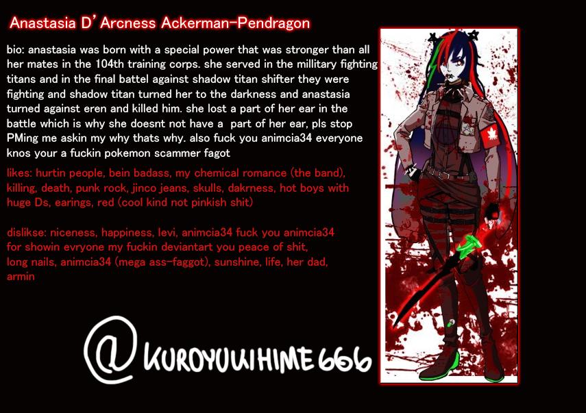 Anastasia - SNK OC by kuroyukihime666