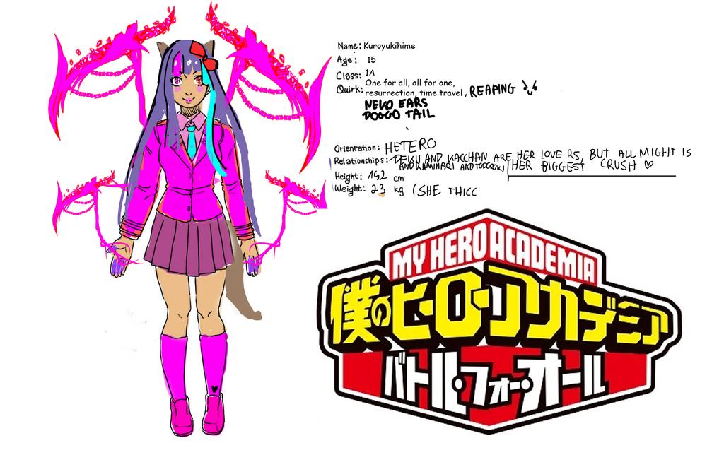 boku no hero academia OC - kuroyukihime by kuroyukihime666