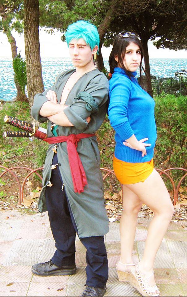 Zoro Roronoa and Nico Robin Cosplay by DarthRey