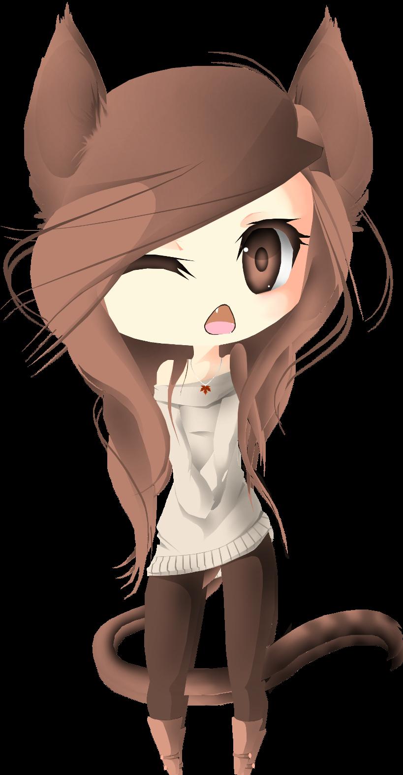 Chibi Neko by Puppypaww on DeviantArt  |Chibi Anime Neko Girl
