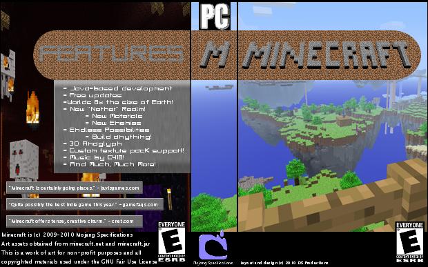 For Minecraft Pc Game Case : Minecraft case art mockup by dragonshardz on deviantart