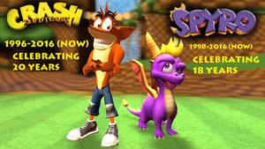 Spyro and Crash 18th and 20th Anniversary