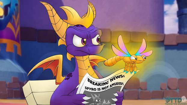 Spyro Reads A Newspaper (Meme)