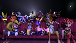 Spyro and Crash - Movie Night