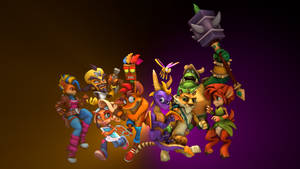 Crash vs Spyro Poster